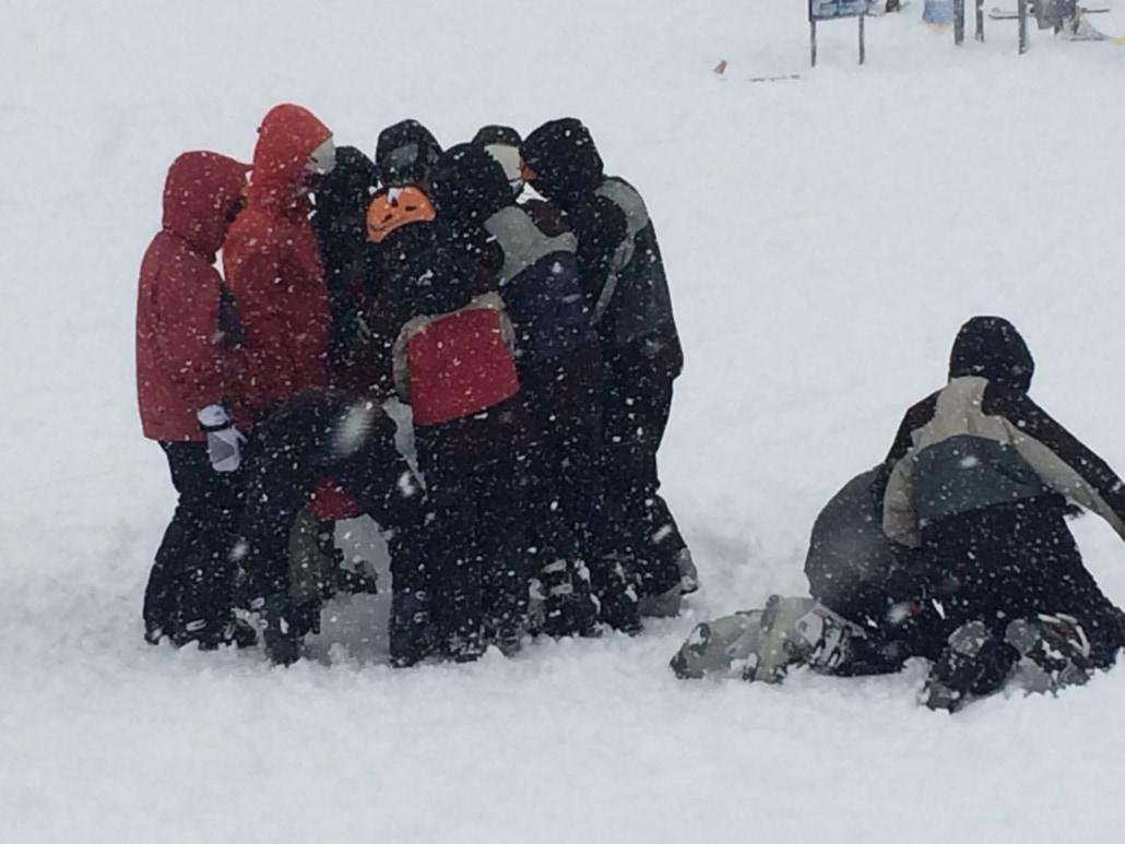 Snowing at Perisher