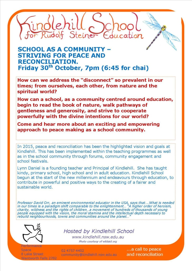 School as a Community- Kindlehill Forum